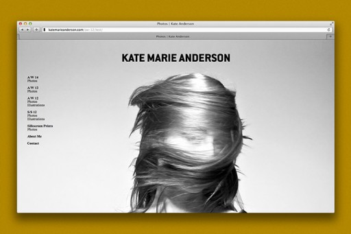 Julià Roig Kate Marie Anderson — Identity, website and lookbook