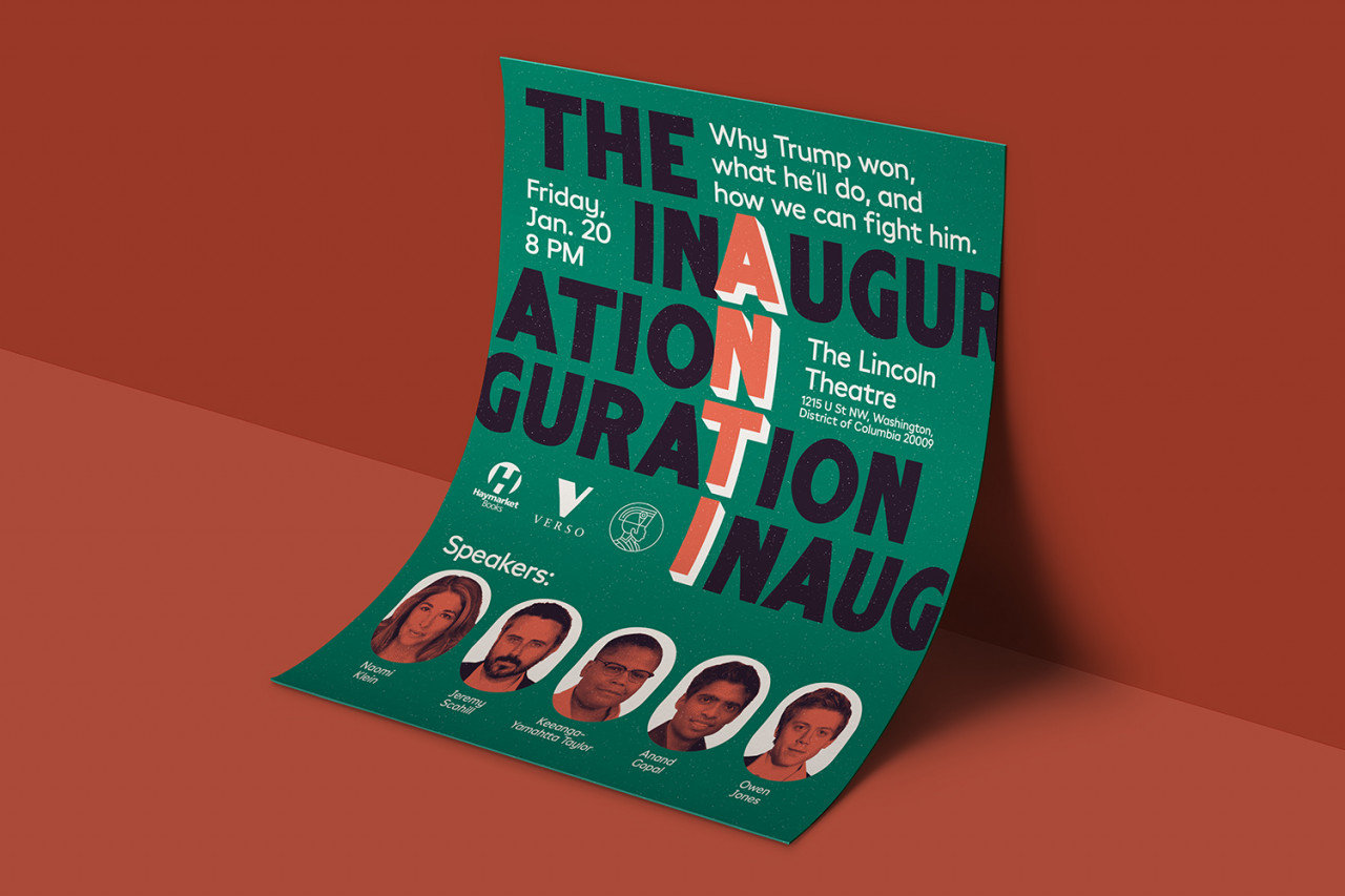 Julià Roig The Anti-Inaguration — Poster